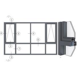 """兴发铝材创高US100-160系列""""幕墙式""""明框窗"""