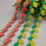 供应涤纶丝水溶刺绣花边 草莓菠萝花边 童装饰品