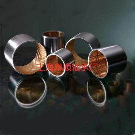 双金属无油自润滑轴承铜套钢套复合铜衬套耐磨