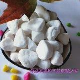 白色鹅卵石 鱼缸造景白石子 园艺用白色鹅卵石