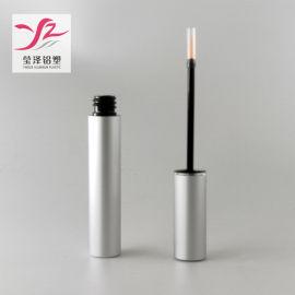 金属铝眼线管 圆形氧化铝哑光银睫毛增长液包材