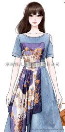 大码女装夏装新款2020显瘦中长款微胖妹mm連衣裙