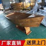 武威木质装饰船博物馆摆件时尚