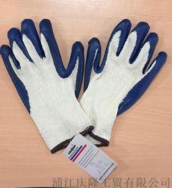 防割手套挂涂浸胶耐磨防滑丁腈手套