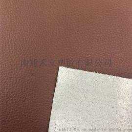 棕色pvc汽车座椅革麂皮绒底手感柔软一等品