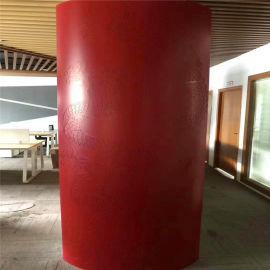 LED透光冲孔包柱铝单板 灯带白色透光铝单板包柱