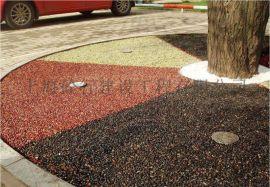 天然胶粘石透水混凝土艺术地坪
