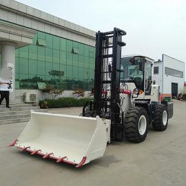 越野叉车多功能3吨5吨搬运液压升降3-6米越野叉车