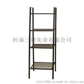 钢制置物架落地多层收纳架简易书架厨房整理架梯形花架