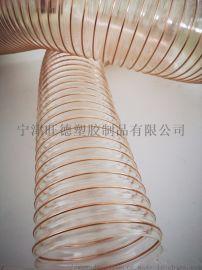 pu透明耐磨钢丝管A南澳pu透明耐磨钢丝管直销