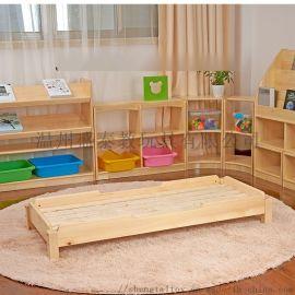 幼儿园实木床,单人叠叠床,辅导班午休床