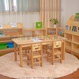 幼儿园木质桌椅厂家,幼教实木桌,培训辅导班课桌