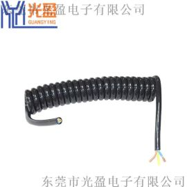 三芯螺旋电源线  可定制弹簧线
