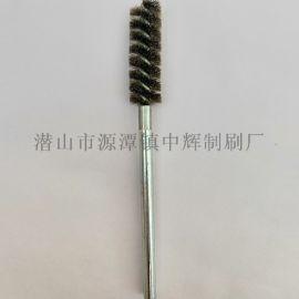 内孔抛光管道刷 液压阀管道内壁去毛刺试管刷 钢丝刷