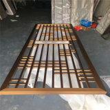 2021古典鏤空木紋鋁花格窗 防火隔斷造型鋁花格窗