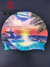 温州防水不掉色耐拉伸硅胶泳帽 硅胶免涂层打印机