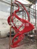 城市扭曲飘带不锈钢雕塑 售楼处示范区雕塑系列