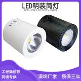 地铁站led明装筒灯照明 60w明装筒灯生产