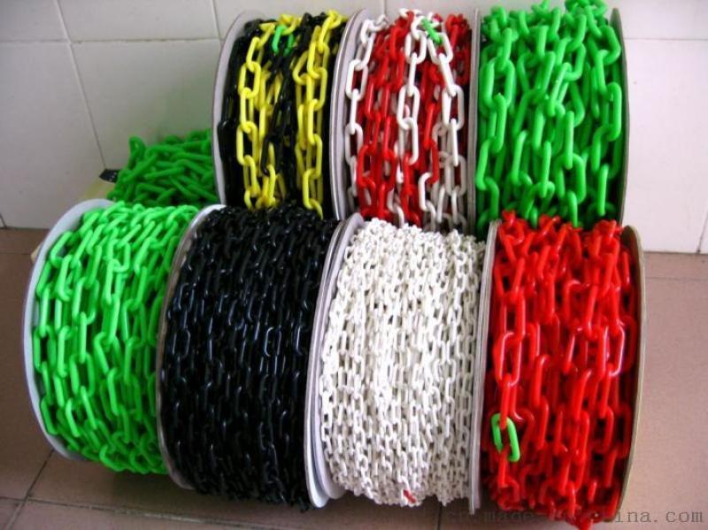 交通塑料鏈子鏈條封閉警示紅白路錐塑膠安全工業釦環