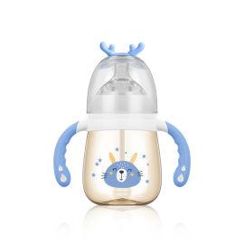 寬口PPSU奶瓶   帶手柄吸管奶瓶 小靈鹿系列