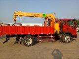 重汽6.3噸立電杆拉活動板房專用隨車吊