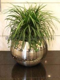 大型不锈钢花盆镀玫瑰金/花盆组合不锈钢花盆
