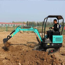 **伸缩履带微型小挖机 植树造林农用挖掘机