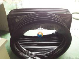 圆形防护罩三防布钢圈伸缩防护罩圆筒伸缩式丝杠防护罩