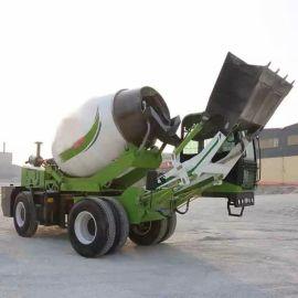 移动式混凝土搅拌车 自动上料混凝土搅拌车直销