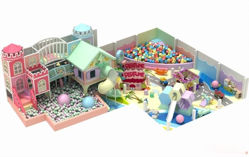 厂家直销马卡龙主题室内淘气堡儿童乐园设备飞翔家