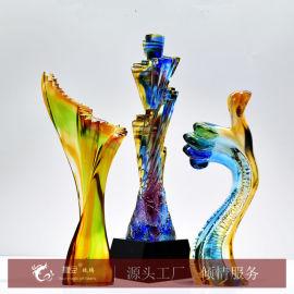 工厂直销 一个起做 琉璃奖杯