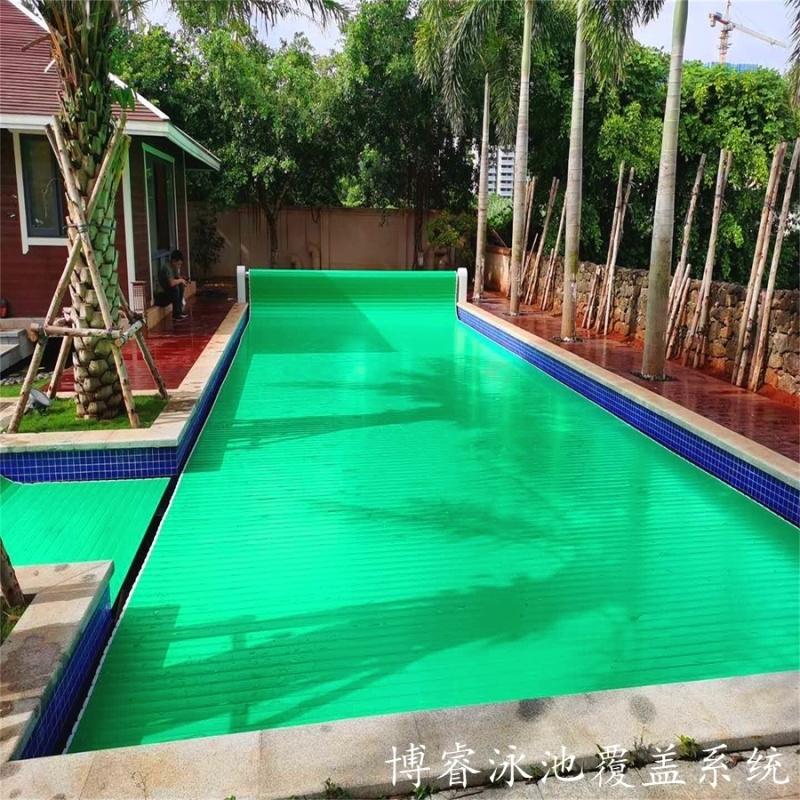 泳池盖厂家泳池盖厂家自动开合收缩盖 博睿泳池盖