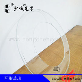 高透光筛选机转盘玻璃  环形工作台圆玻璃
