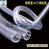 鑫翔宇耐160度高温真空PVC透明钢丝增强吸料软管