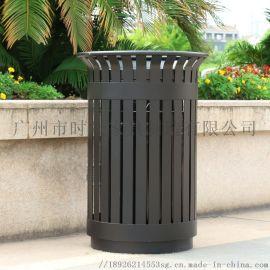 垃圾桶 户外圆柱形钢铝防腐垃圾桶