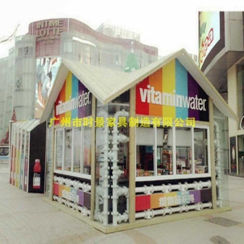 商业街售卖亭 景区手推车 玻璃钢小卖部 广场手推车