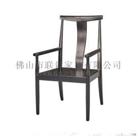 厂家直销白腊木新中式休闲实木椅子茶楼茶桌椅
