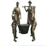 廣州歷史人物雕塑 玻璃鋼仿銅人物雕塑圖片