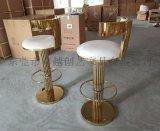 不锈钢吧椅咖啡厅吧台椅 北欧高脚凳