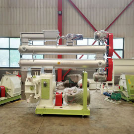 110KW饲料环模颗粒机 十吨肉鸡饲料设备厂家山东