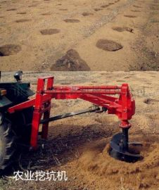 新疆地钻式植树造林挖坑机 家用拖拉机牵引挖坑机现货批发