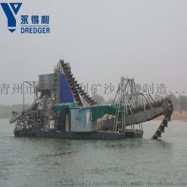 链斗式淘金船,湖泊河道淘金设备,淘金设备现货供应