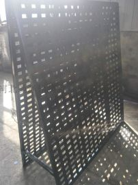 黑色展示板 冲孔板展示架 洞洞板