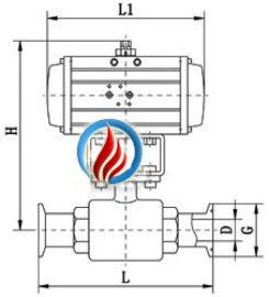 Q681F气动卫生级球阀气动卫生级球阀
