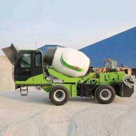 小型混泥土搅拌运输车 多功能自上料搅拌车