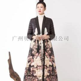 **女装品牌遇见天时尚羽绒服折扣尾货资源