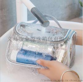 PVC透明化妆包大容量洗浴旅行便携收纳包洗漱包