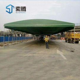 郑州新密市移动推拉蓬伸缩遮阳蓬雨棚