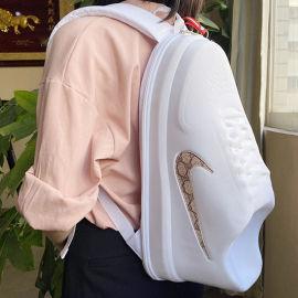 抖音创意个性休闲巨型超大鞋子双肩背包书包