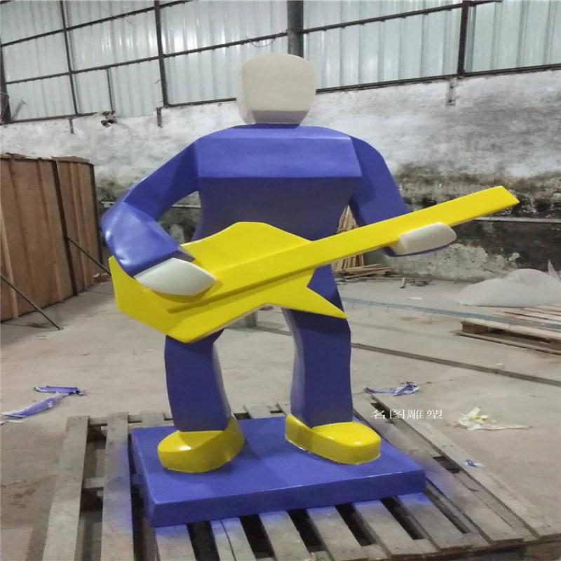 商业街抽象人物雕塑 玻璃钢购物人像雕塑造型